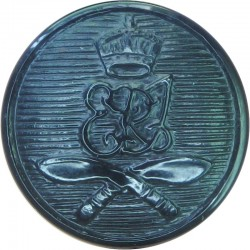 2nd King Edward VII's Own Gurkha Rifles (With Crown) 19mm - Black with King's Crown. Plastic Military uniform button