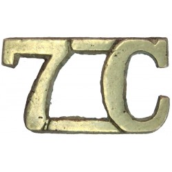 7C (7th Light Cavalry (Indian Army))   White Metal Army metal shoulder title