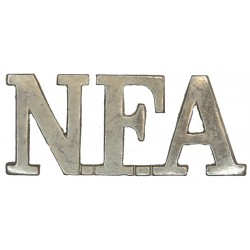 NFA (Natal Field Artillery) South Africa   Chrome-plated Army metal shoulder title