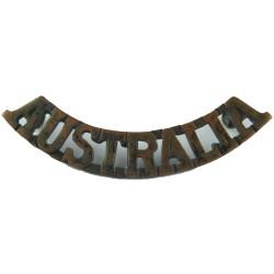Australia Curved - 54.5mm Wide  Bronze Army metal shoulder title