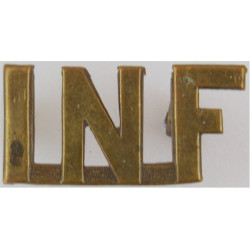 INF (Canadian Army CEF Infantry - WW1) Caron Montreal 1915  Brass Army metal shoulder title
