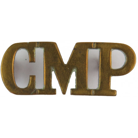CMP (Corps Of Military Police) Thick Letters  Brass Army metal shoulder title