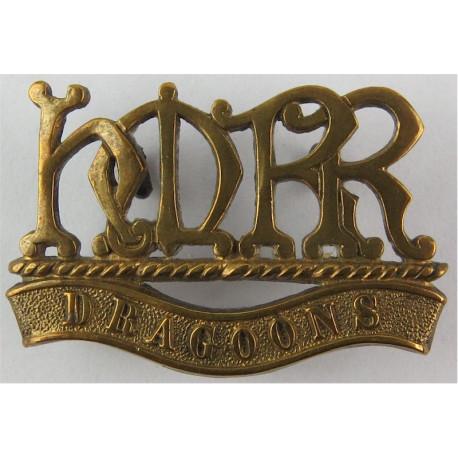 HMRR / Dragoons (Her Majesty's Reserve Regiment) 1900-1901 (Boer War)  Brass Army metal shoulder title