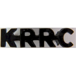 KRRC (King's Royal Rifle Corps) 1958-1966  Blackened Army metal shoulder title