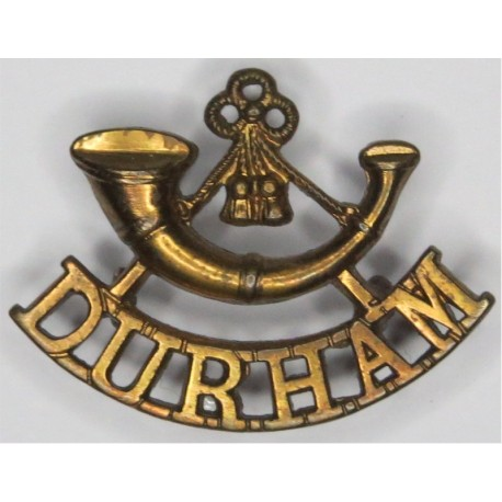 Bugle/ Durham (Durham Light Infantry) - C.1885-1907 Mouthpiece FR  Brass Army metal shoulder title