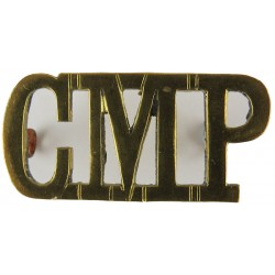 CMP (Corps Of Military Police) Thin Letters  Brass Army metal shoulder title