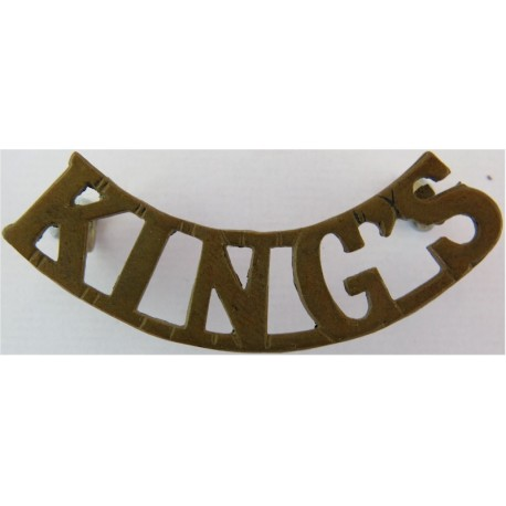 King's (King's Regiment (Liverpool)) Post-1902  Brass Army metal shoulder title
