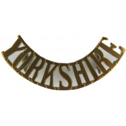 Yorkshire (King's Own Yorkshire Light Infantry) No Bugle - 1887-1921  Brass Army metal shoulder title