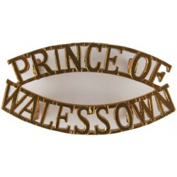 Prince Of / Wales's Own (PoW's Own Regt Of Yorkshire 1958 - Late 1960's  Brass Army metal shoulder title