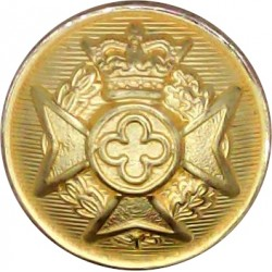 Royal Army Chaplains' Department (Jewish) 13.5mm - Black with Queen Elizabeth's Crown. Plastic Military uniform button