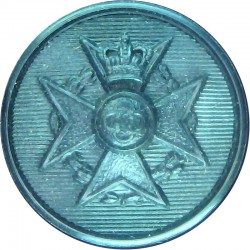 Royal Army Chaplains' Department (Jewish) 17.5mm - Black with Queen Elizabeth's Crown. Plastic Military uniform button