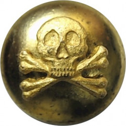 17th/21st Lancers - Officer's 13mm Mounted Dome  Gilt Military uniform button