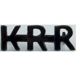 KRR (King's Royal Rifle Corps) Black  Brass Army metal shoulder title