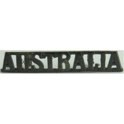 Australia (for WW1 UK-Made 'Coming Home' Tunic) Straight 53.5mm Wide  Bronze Army metal shoulder title