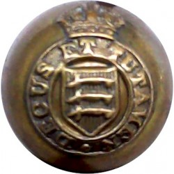Essex Yeomanry (Royal Horse Artillery) 18mm Ball Button with King's Crown. Brass Military uniform button