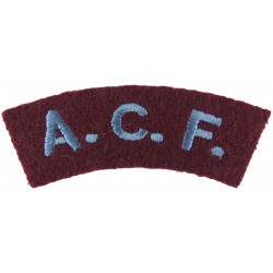 ACF (Army Cadet Force) - Parachute Regiment Colours Sky Blue On Maroon  Embroidered Sew-on Army cloth shoulder title