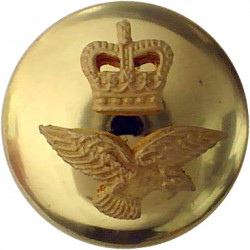 14th/20th King's Hussars 15.5mm Flat Indented with Queen Elizabeth's Crown. Gilt Military uniform button