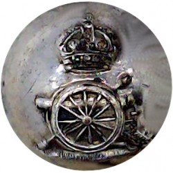 York And Lancaster Regiment 15.5mm Mounted Dome Silver-plate and gilt Military uniform button