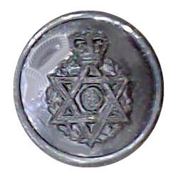 Royal Army Chaplains' Department (Jewish) 13.5mm - Black with Queen Elizabeth's Crown. Plastic Military uniform button
