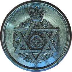 Royal Army Chaplains' Department (Jewish) 23.5mm - Black with Queen Elizabeth's Crown. Plastic Military uniform button