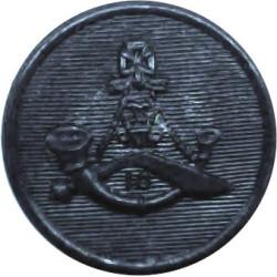 10th Princess Mary's Own Gurkha Rifles   (black) 19mm - Screw-Fit  Plastic Military uniform button