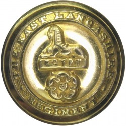 Gloucestershire Regiment 25.5mm with King's Crown. Brass Military uniform button