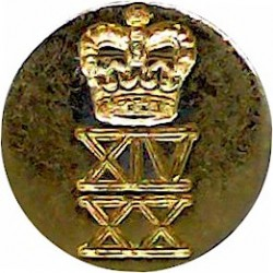 Honourable Artillery Company (Infantry) 22.5mm with Queen Elizabeth's Crown. Silver-plated Military uniform button
