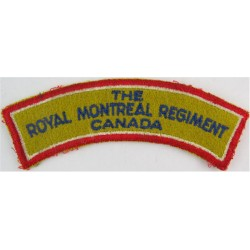 The / Royal Montreal Regiment / Canada Blue On Yellow & Red  Embroidered Non-British Army shoulder title