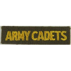 Army Cadets (Canada) Yellow On Brown  Embroidered Non-British Army shoulder title