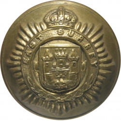 East Surrey Regiment - With Rim 25.5mm - 1902-1952 with King's Crown. Brass Military uniform button
