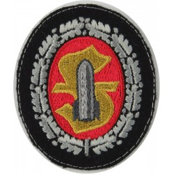 German Army Ammunition Techical Personnel Silver Oakleaves  Embroidered Army cloth trade badge