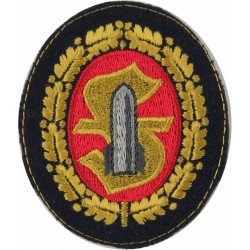 German Army Ammunition Techical Personnel Gold Oakleaves  Embroidered Army cloth trade badge