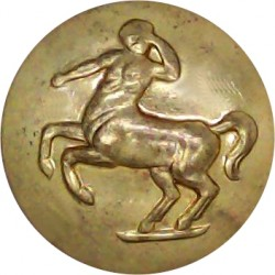 Queen's Royal Regiment (West Surrey) 19mm - 1909-1959  Brass Military uniform button