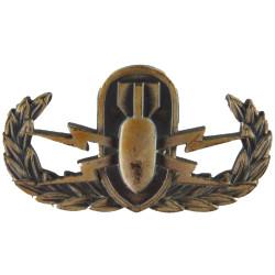 US Forces Basic Explosive Ordnance Disposal Badge   Pewter Army metal trade badge