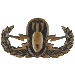 US Forces Explosive Ordnance Disposal Basic Badge   Pewter Army metal trade badge