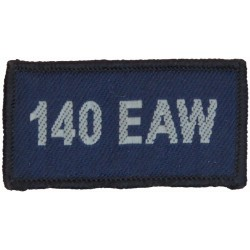 140 EAW (Expeditionary Air Wing - RAF Lossiemouth) Blue Rectangle  Woven Air Force Badge