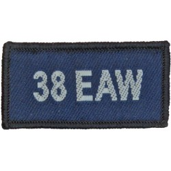 38 EAW (Expeditionary Air Wing - RAF Brize Norton) Blue Rectangle  Woven Air Force Badge