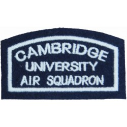 Cambridge University Air Squadron Shoulder Title  Embroidered Air Force Badge