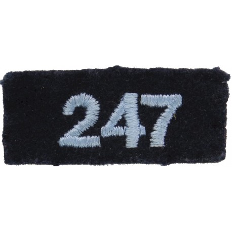Air Training Corps Squadron Number 247 (Ashton-U-L) On Dark Blue Post-72  Embroidered Air Force Badge