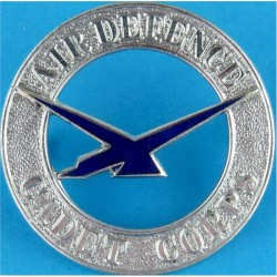 Air Defence Cadet Corps  (Jul 1938 - Feb 1941 Became Air Training Corps)  Chrome and enamelled Air Force Badge