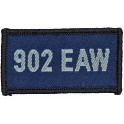 902 EAW (Expeditionary Air Wing - Seeb: Oman) Blue Rectangle  Woven Air Force Badge