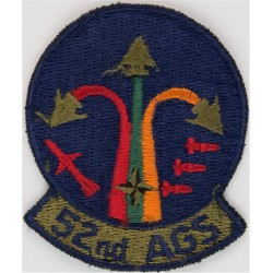 52nd AGS (Aircraft Generation Squadron) USAF Subdued  Embroidered United States Air Force insignia