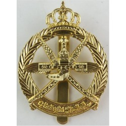 Oman - Royal Air Force Of Oman Cap Badge Post-1990  Anodised Foreign Air Force insignia