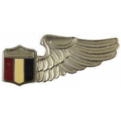 Libyan Air Force Aircrew Half-Wing - Pre-Gaddafi Bomisa Milano Italy  White Metal and enamel Foreign Air Force insignia