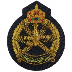 Oman - Royal Air Force Of Oman Officer Cap Badge Post-1990  Bullion wire-embroidered Foreign Air Force insignia