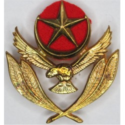 Pakistan Air Force Warrant Officer's Cap Badge Post-1956  Brass Foreign Air Force insignia