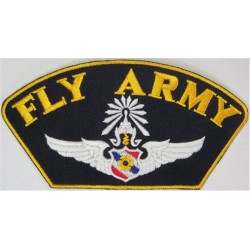 Royal Thai Army - 1st Class Pilot - 'Fly Army' Baseball Cap Badge  Embroidered Foreign Air Force insignia