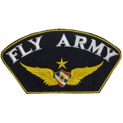 Royal Thai Army - Senior Pilot - 'Fly Army' Baseball Cap Badge  Embroidered Foreign Air Force insignia