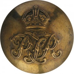 Royal Tank Regiment 26mm - 1939-1952 with King's Crown. Brass Military uniform button