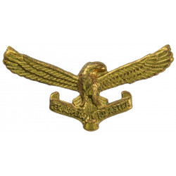 South African Air Force Collar Badge FR - Post-1959  Brass Foreign Air Force insignia